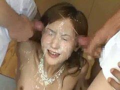 Asian bukkake slut