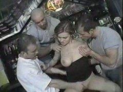 European Slut Walks Into A Bar And Gets Fucked...Hard!