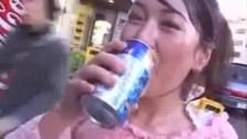 Japanese Girl Walks In Public Covered In Cum
