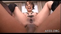 Asian blowbang with sexy anal